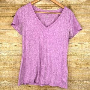 Mossimo T shirt V Neck Light Purple Large
